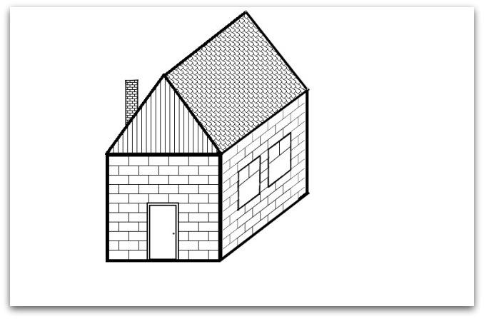 Простейший способ нарисовать домик